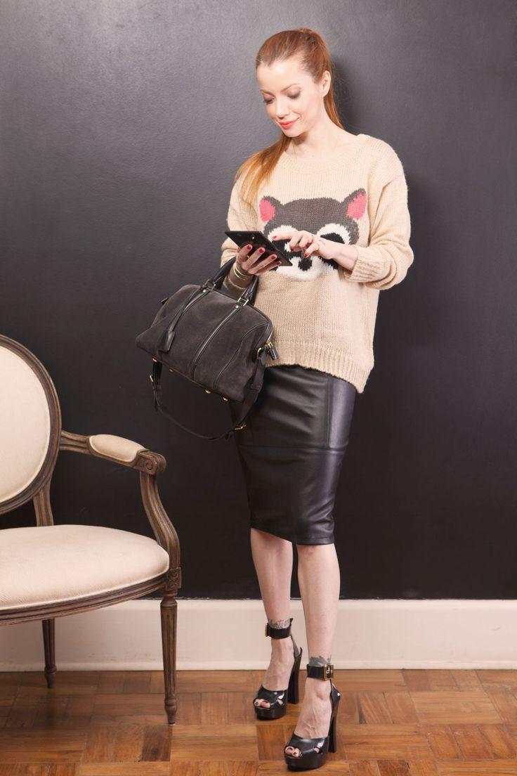 -malha Sheinside -saia Asos -bolsa Louis Vuitton -sandálias Melissa