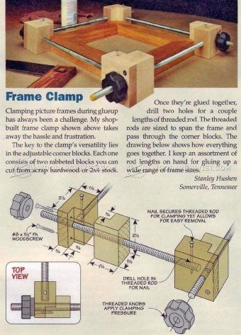 #972 DIY Frame Clamp - Clamp and Clamping Tips, Jigs and Fixtures