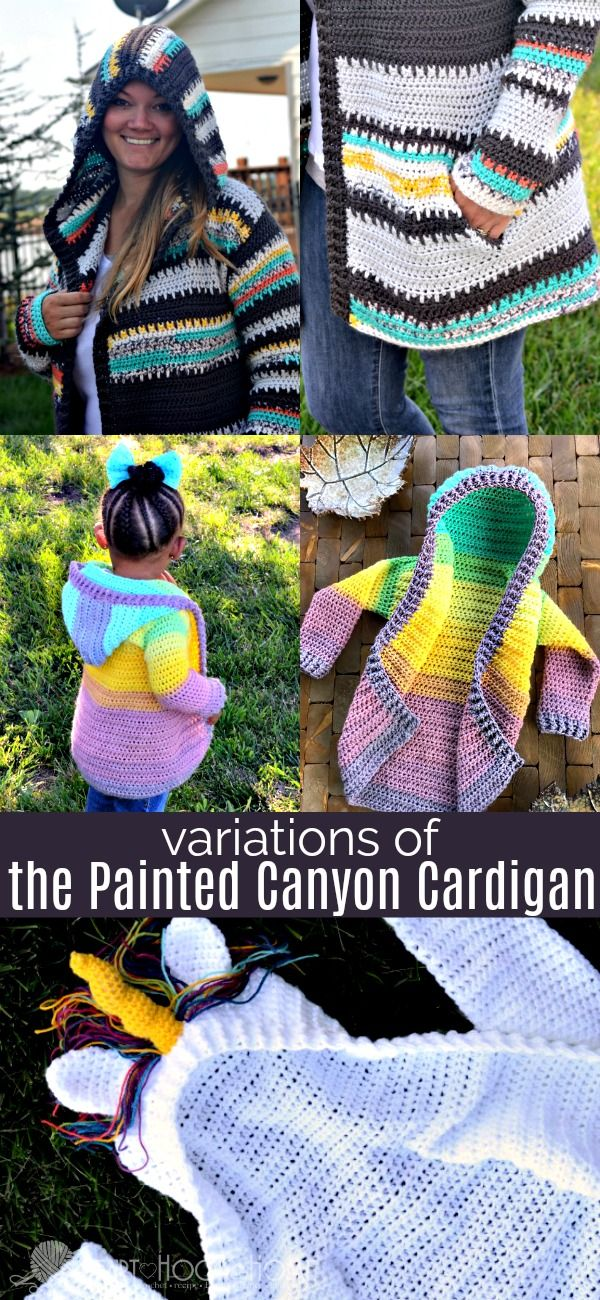 Making the Painted Canyon Cardigan? Use the recommended yarn or one of the variations! This video tutorial shows how to control the colors in this cardigan.