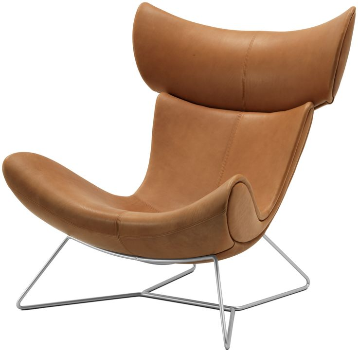 "Modern Armchairs - Contemporary Armchairs - BoConcept  Design Henrik Pedersen  Imola chair, available in fabrics and leathers. As shown, caramel Oxford leather 5073/brushed steel. H43½xW37½xD39"". [Imola - 8510]  Article no.: 60385105073  $5,489"