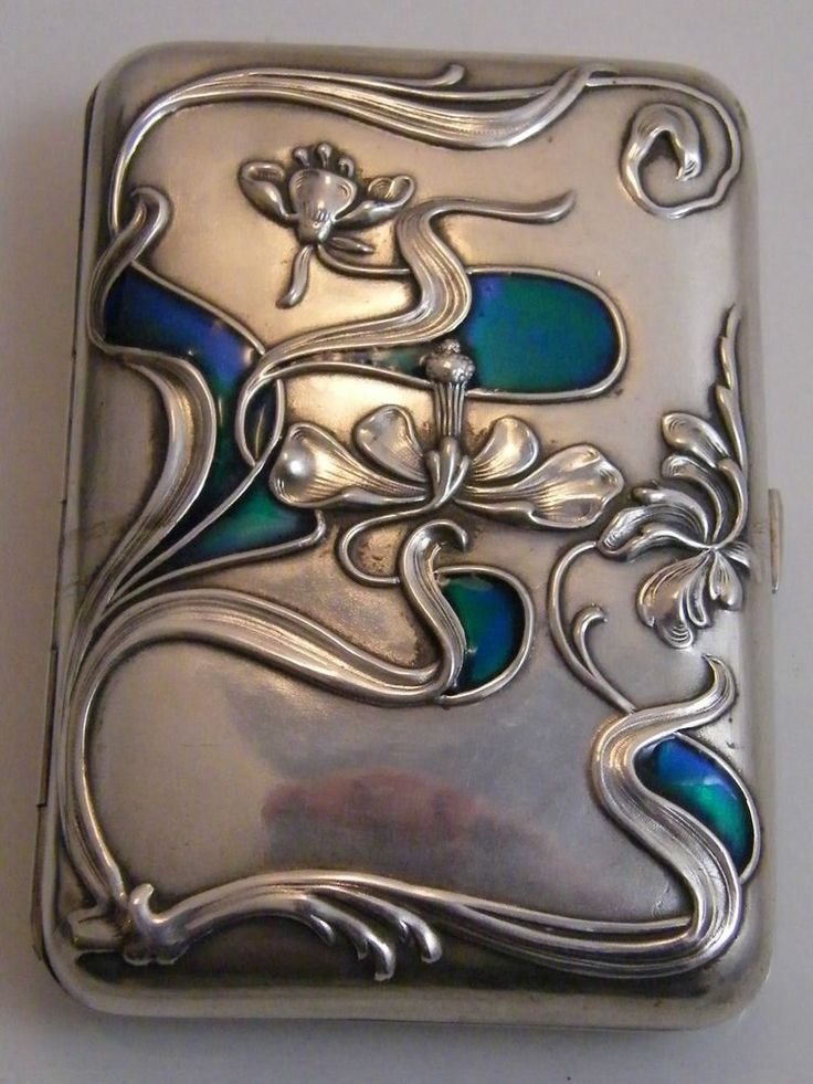 art nouveau enamel case - Google Search
