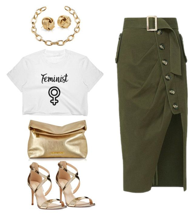 """Femme Camo"" by blackgrlmagic ❤ liked on Polyvore featuring Nine West, self-portrait, Michael Kors and Blue Nile"
