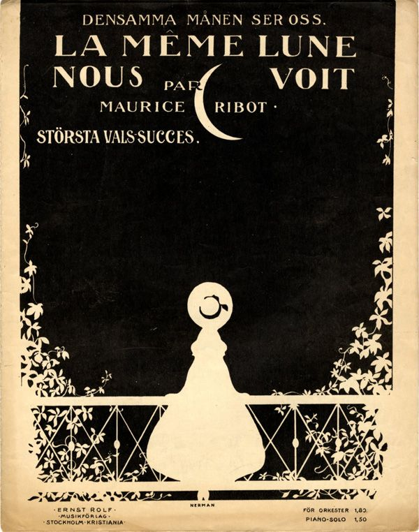 Einar Nerman, from the Images Musicales collection La même lune nous voit, 1917