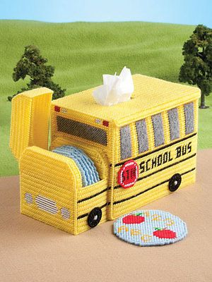On the Go Tissue Toppers Plastic Canvas Coasters Covers Patterns Book