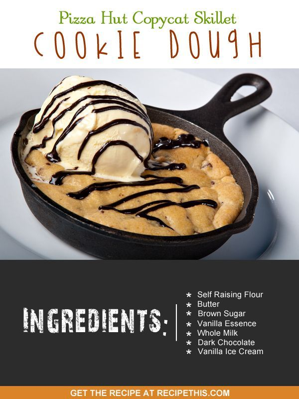 Copycat Recipes | Pizza Hut Copycat Skillet Cookie Dough