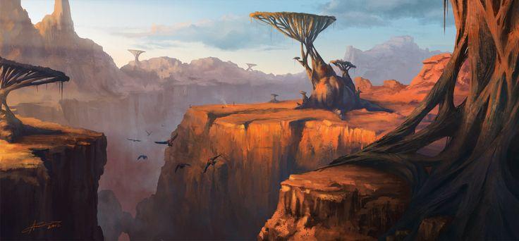 Alien canyon by ARTek92 on DeviantArt