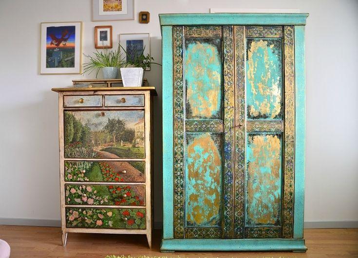 Turquoise wardrobe