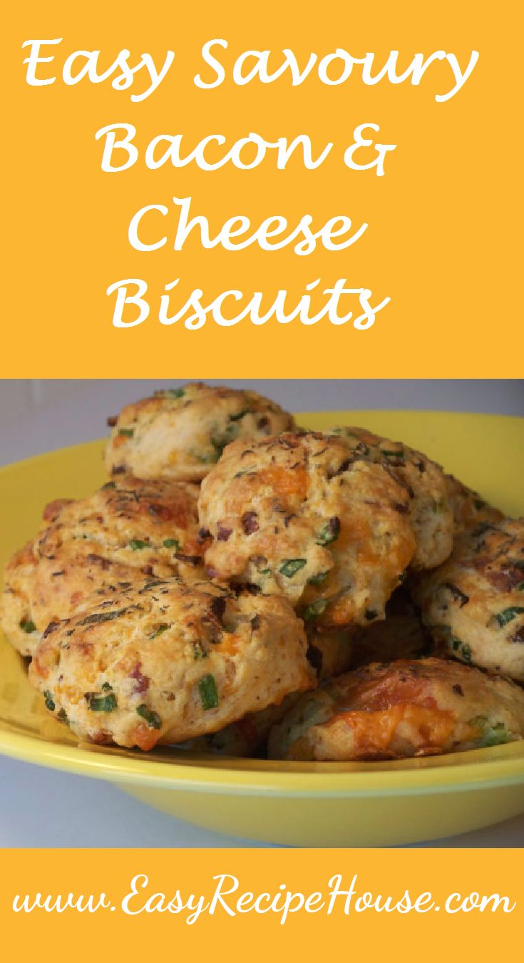 Easy Savoury Bacon and Cheese Biscuits- Easy Dinner Recipe- Quick Simple Family Meal