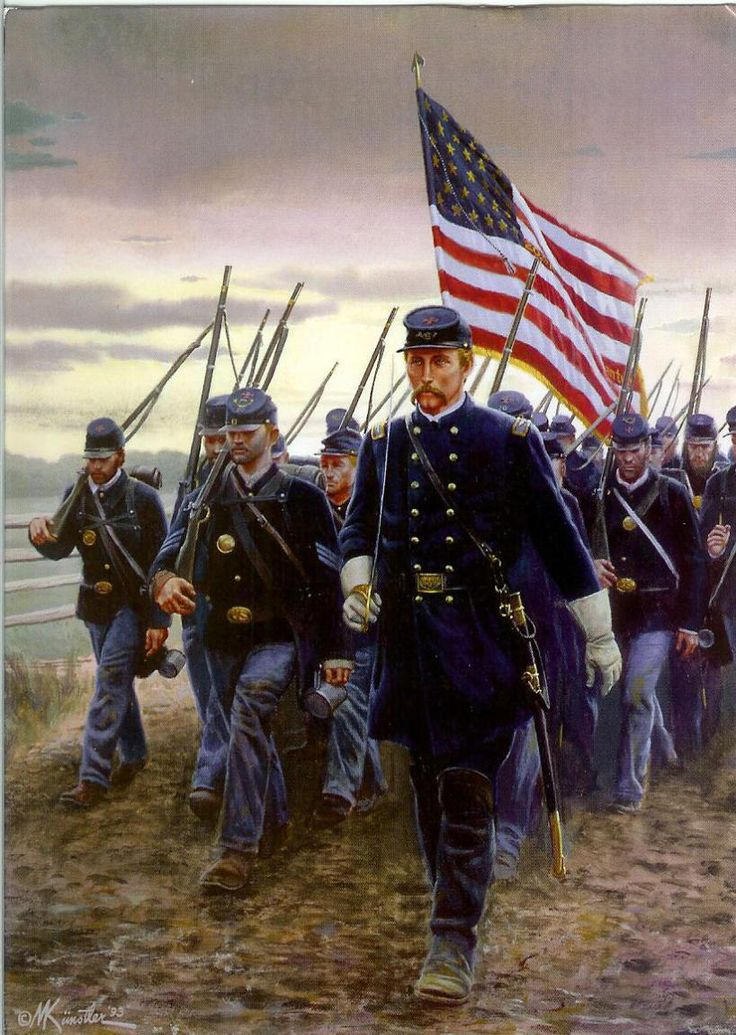 """*COL.JOSHUA LAWRENCE CHAMBERLAIN~ +the 20th Maine. Gettysburg-July1,1863.By vocation he was a professor,not a soldier. Col.Chamberlain had volunteered for the army,however+he was a natural leader.He+his regiment-the 20th Maine Infantry-had endured a bloody baptism of fire at Fredericksburg&Gettysbury they defended a crucial sector of the Union line.""""hold at all hazards,""""they were commanded+they did."""