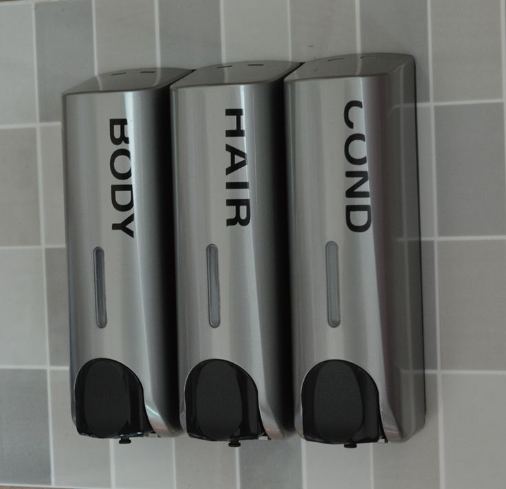 Wall Mounted Shampoo Conditioner Dispenser Quality Silver Soap
