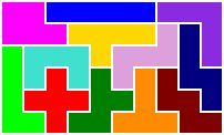 Website listing all possible solutions for pentomino grids shown...very cool!