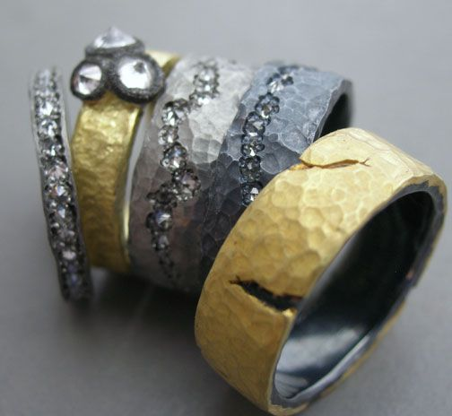 mixed  metals, diamonds