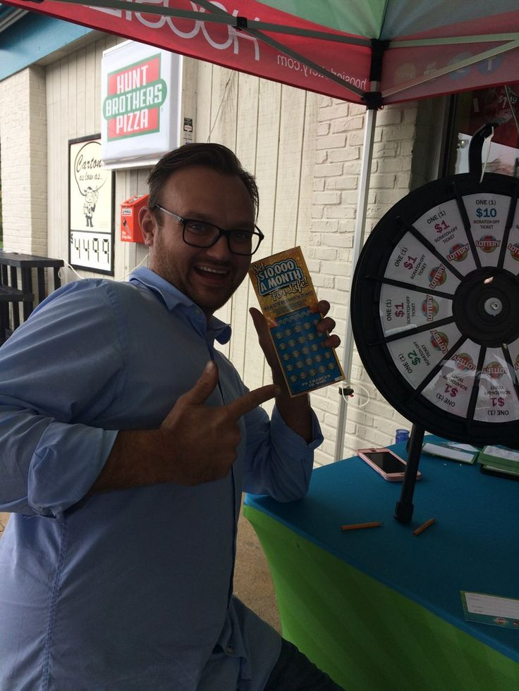 Brian hit the big prize on our mini wheel AND he still has a chance to win our prize pack! Get to Valero in New Albany to play! Read more about the Prize Wheel at https://PrizeWheel.com/blog/.