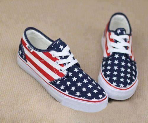 American Flag Vans- WANT