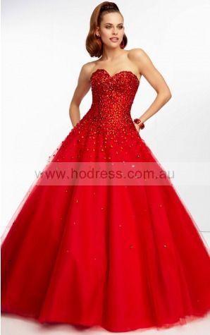 Sleeveless Sweetheart Lace-up Tulle Floor-length Formal Dresses zyh154--Hodress
