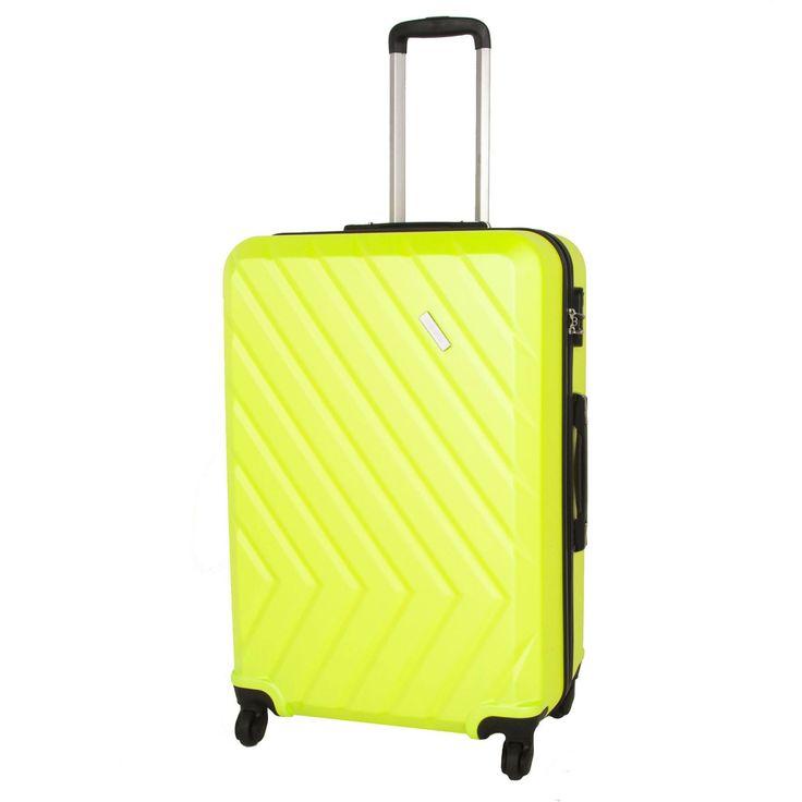 Skořepinový kufr z ABS plastu na čtyřech kolečkách. - čtyři odolná kolečka otočná o 360° - výsuvná rukojeť s aretací - integrovaný kombinační zámek - oboustranný systém balení s dělicí příčkou a kompresními popruhy - jemná podšívka - komfortní madla - moderní ...