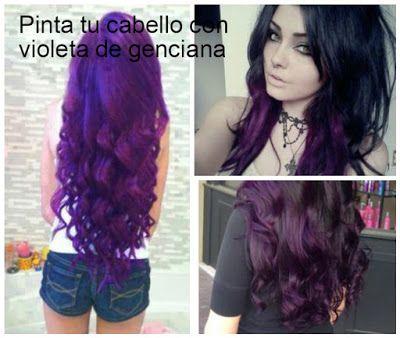 Consejos para pintar el cabello con violeta de genciana ~ Belleza y Peinados