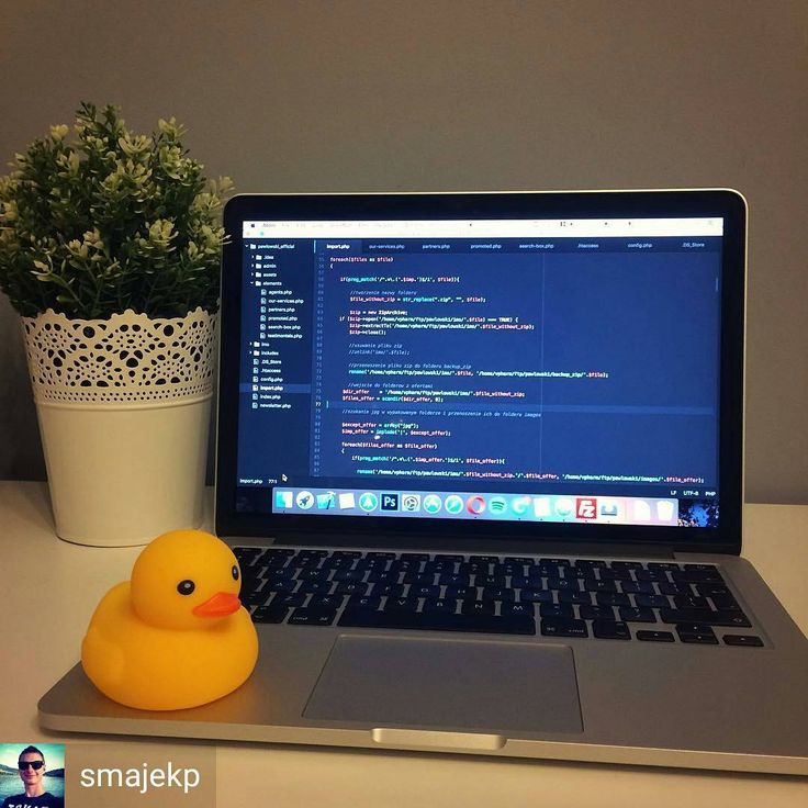 Rubber duck??? @smajekp -  Rubber Duck Debugging  - - - - - #webdev #workplace #macbook #atom #rubberduckdebugging #programmer #programming #coding #code #coder #computerscience #developer #codingquotes #tech #setup #php #python #html #css #java #javascript #webdev #coderlife #webdesign #webdevelopment #webdeveloper #cs #IT #sql