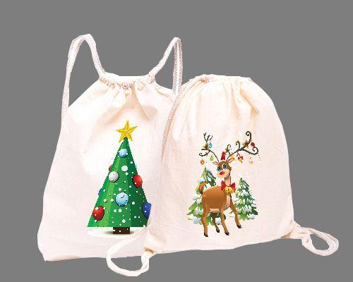 Plecak bawełniany torba worek ekologiczny z nadruk