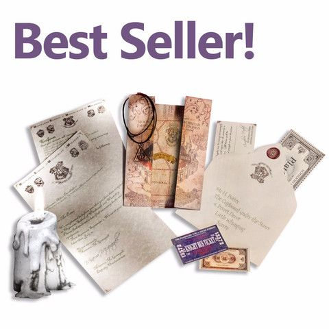 Harry Potter Hogwarts Accceptance letter set, truly our best ever kit for aspiring young witches or wizards!