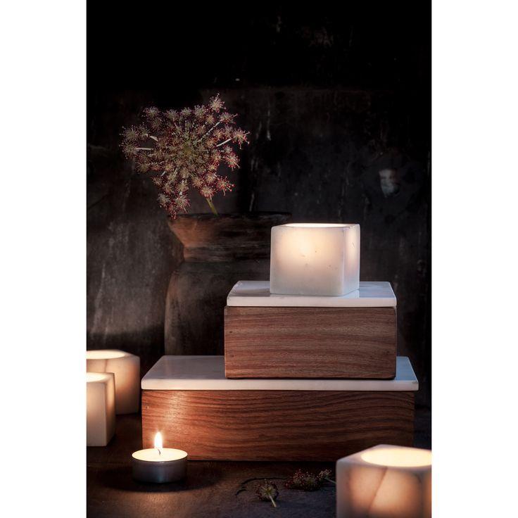 T-candle holder, white marble – Nordstjerne #interior #design