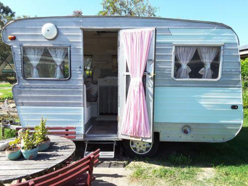 Vintage Retro 60s Caravan Weekender Camping Chic Market Food Van Shed Kidston Airbnb For Sale Ebay