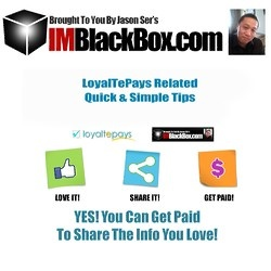 "An Insider Look Into LoyaltePays Social Sharing Platform and how you can get paid by simply sharing information from other experts. This is a highly informative video that walks you through the sign up process to get a Free Memebership at Loyaltepays, a ""Behind The Scene"" tour of the back office for both Free and Premium Members of LoyaltePays."