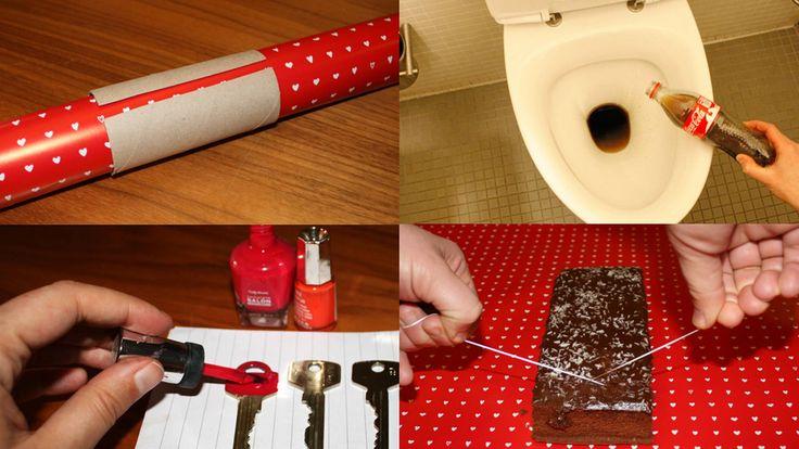 Tenn lys med spagetti, bruk boksåpneren på vanskelig emballasje, mal nøklene med neglelakk og legg en tresleiv over det kokende vannet i gryten.
