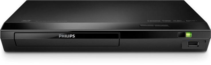 Philips BDP2590 Lecteur Blu-Ray 3D, DVD, DviX Ultra Rapide avec USB, Dolby TrueHD, Upscaling Vidéo, Noir