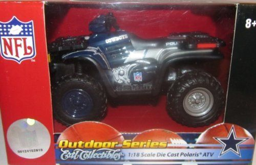 Press Pass Replica Die Cast 1:18 Polaris ATV COWBOYS by ERTL. $16.99. Cool 4-wheeler with team logo and colors painted on.. Brand new in original factory-sealed packaging!. Cool 4-wheeler with team logo and colors painted on.