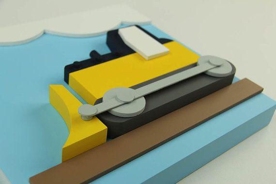 Juego 3D de construcción 4 niños arte de pared de por EleosStudio