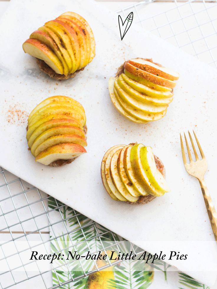 no bake little apple pies