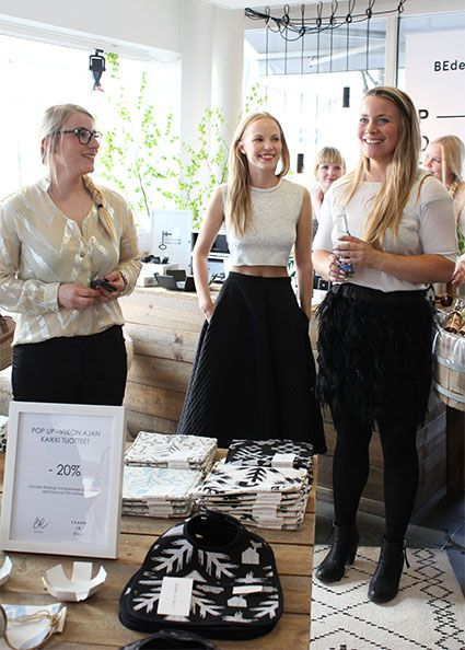 Saana ja Olli & Bedesign pop-up opening 2014