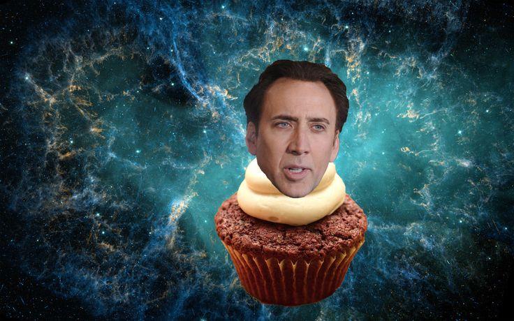 Nicolas Cage universal cupcake