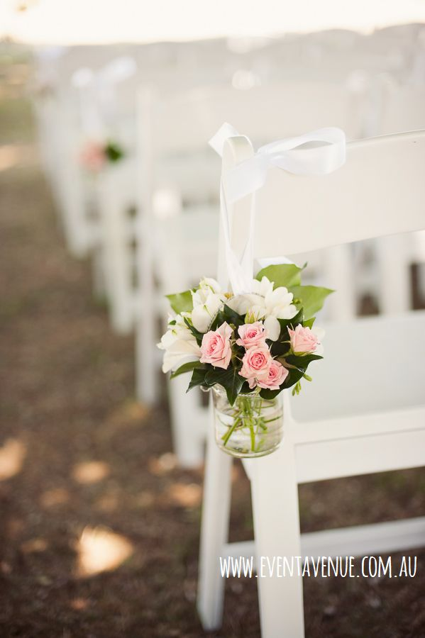 Beautiful pew hanging flower vase used as wedding ceremony decors - Event Avenue