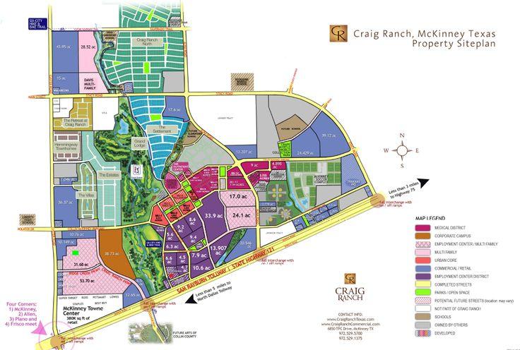 Craig Ranch Community Map McKinney TX McKinney Texas - Mckinney texas us map