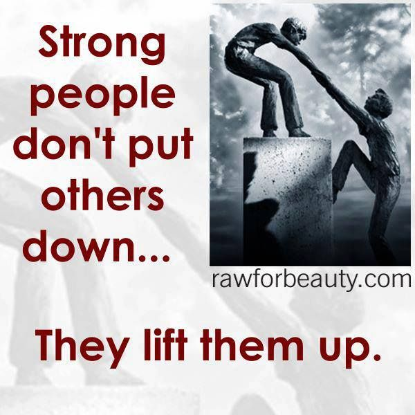 They lift them up.