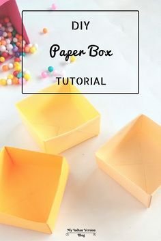 The origami styled paper storage box to organize small items (like office supplies, earrings, hair accessories, small jewellery) in your drawers and cabinets. They are light-weight and very easy to move around. By My Indian Version Blog.