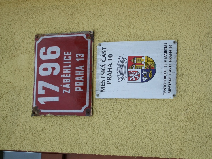 Czech Republic Prague building number, street name and cadastre information