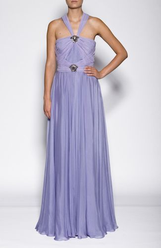 Versace dress Long dress with jewel details, draped, and tulle. Side zipper. 100%SILK Code: A69256A211295