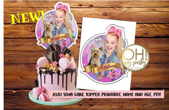 JOJO SIWA Cake Topper Jojo Siwa Party Suppliesjojo Partyjojo Birthday Printa