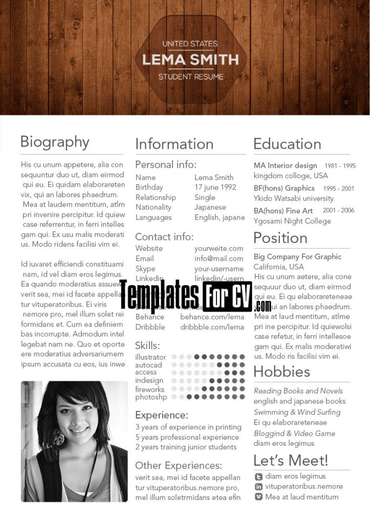 Student-resume-template