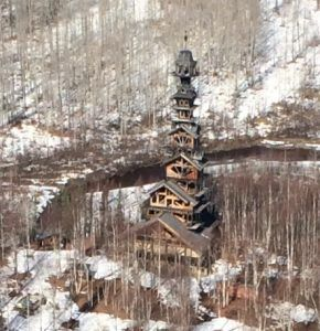 This is a house, in Alaska, in the middle of nowhere. Because.