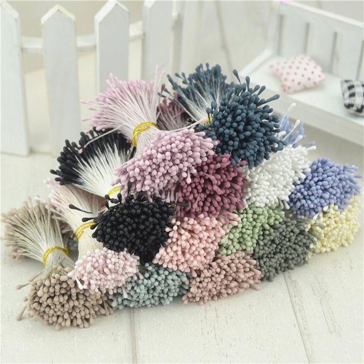 410 stks 1mm matte dubbele hoofden mini bloem meeldraden stamper bruiloft decoratie scrapbooking diy kunstmatige parel kaarten broodjes bloemen