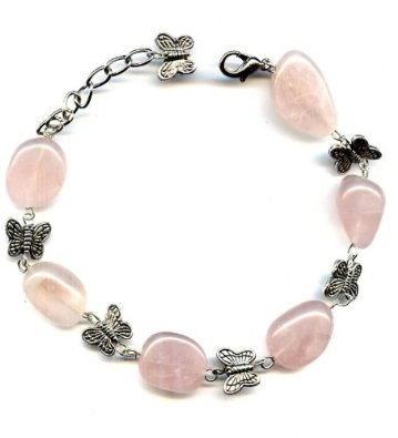 Bracelet made of Butterfly and pink quartz: Pink Quartz, Sparkly Things