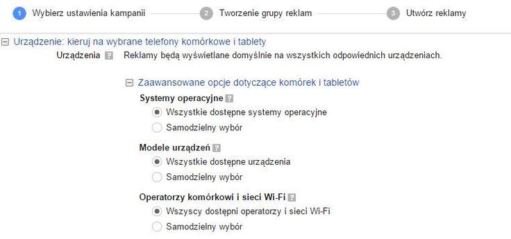 Zapraszamy do przeczytania naszego nowego artykułu o zaawansowanym kierowaniu reklam na urządzenia mobilne.  http://semkonsultant.pl/zaawansowane-tworzenie-reklam-kierowanie-na-system-operacyjny-siec-komorkowa/