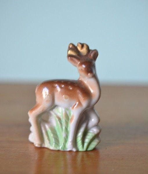 Vintage ceramic deer figure figurine  Japan
