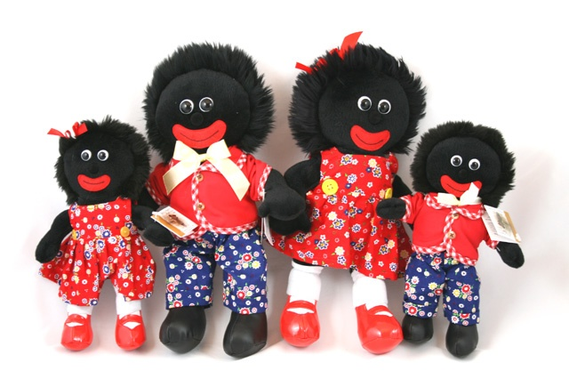 Golliwogs - Family of 4 Red golliwogs