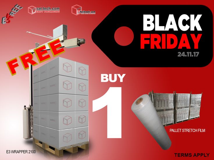 Have you been naughty or nice? Well it doesn't really matter because all you have to do is to purchase one (1) Pallet Stretch Film and GET an E3 WRAP 2100 MACHINE for FREE! #E3Wrap2100forFREE #FREEPalletWrappingMachine #E3wrap43 #BlackFridayDeal #BlackFriday #FREE
