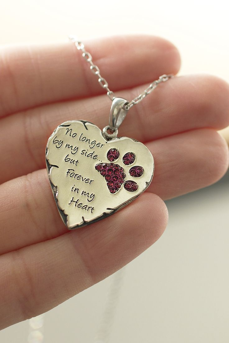 Though your beloved pet is no longer with you, the paw print they left on your heart will remain forever. Cherish the memories with our necklace, given an aged, timeless look through oxidation.